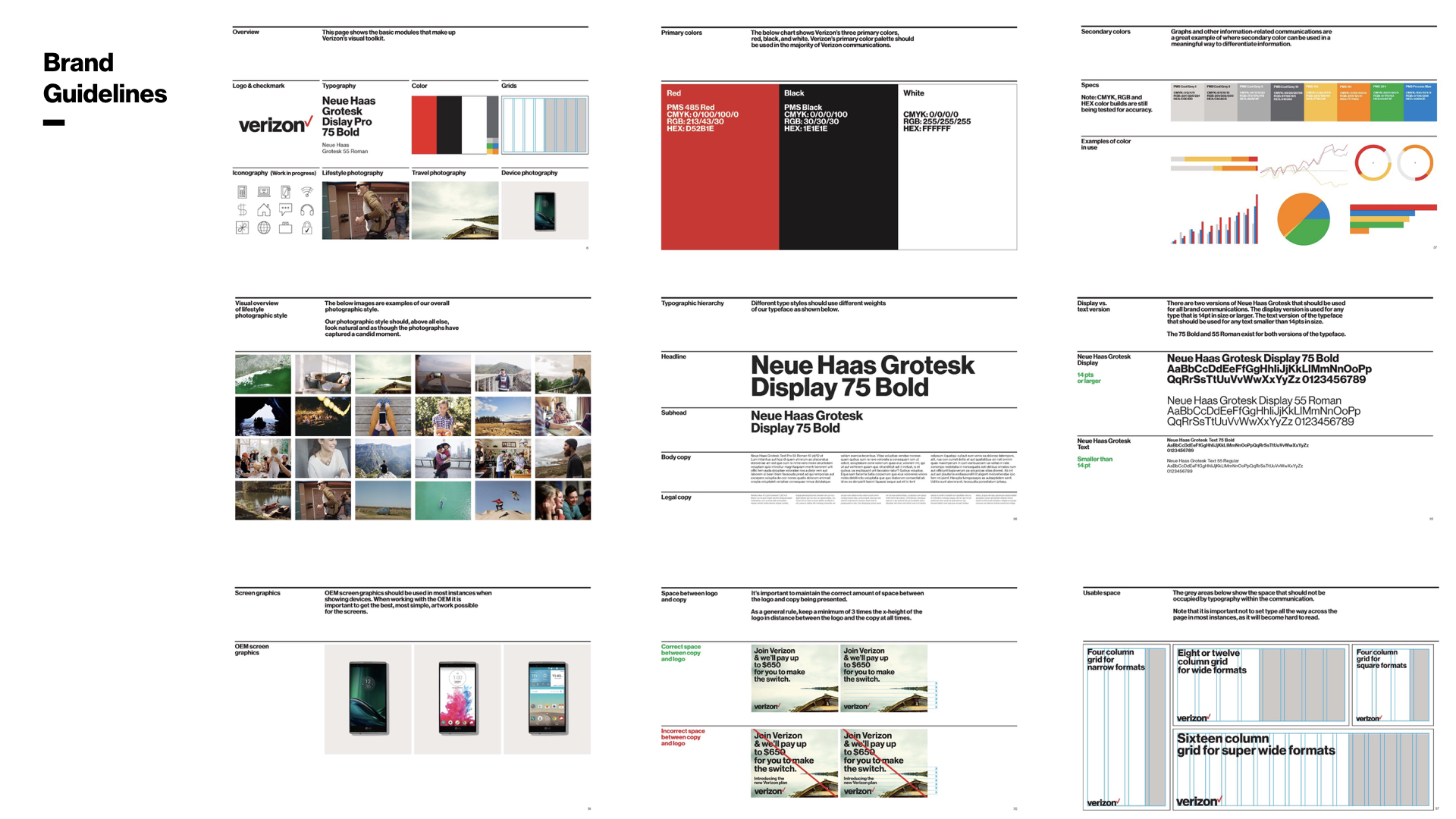 The initial brand guidelines (above) given to my team was heavily focused on Desktop experience.