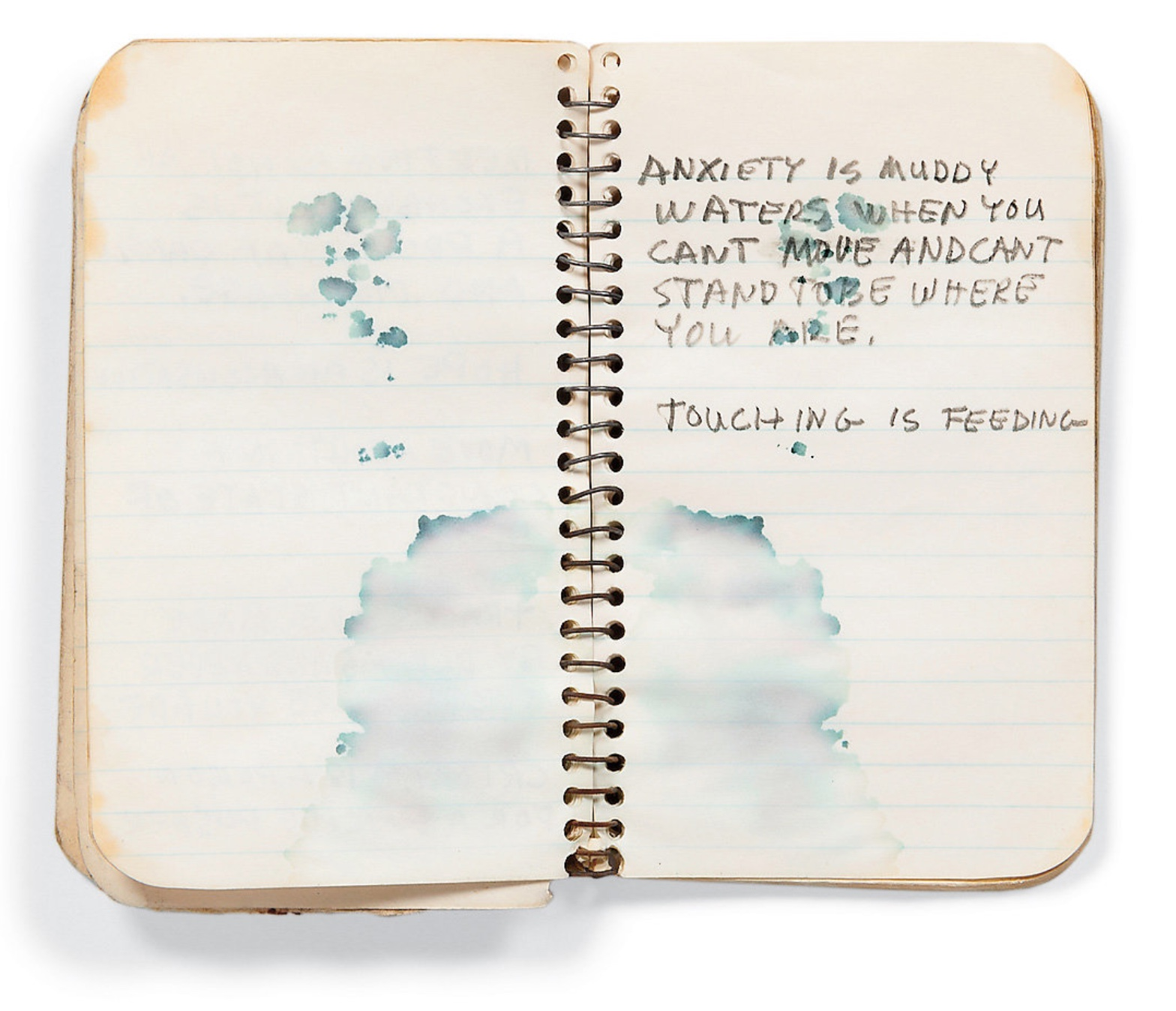 A page from a notebook of Robert Rauschenberg.