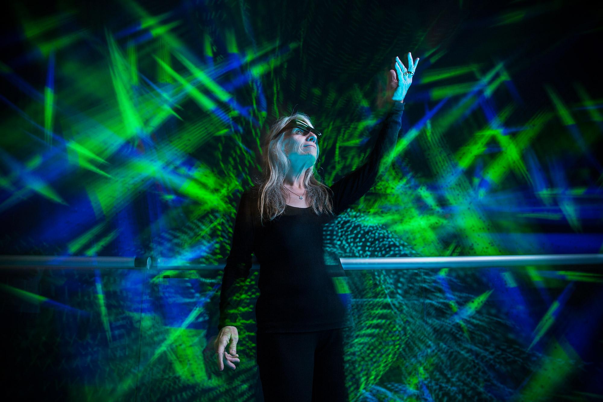 JoAnn Kuchera Morin in the Allosphere - UC Santa Barbara