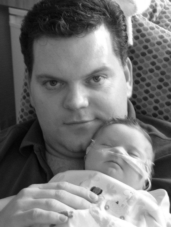 Daddy & Brady Patrick, 1 day old