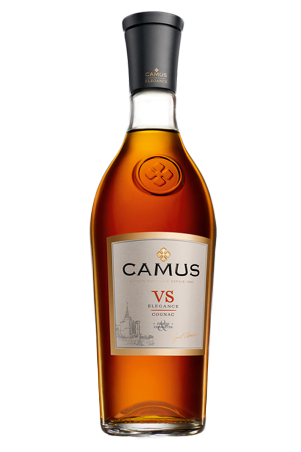 Finesse and Character     Elegance is the defining characteristic of all CAMUS Cognacs. CAMUS VS Elegance is a careful blend of eaux-de-vie made from wines distilled without lees.    Its personality is very faithful to the original aromas of the wine and the quintessential flavors of the Charente  terroir  , characterized by delicate fruity and floral notes. During the distillation process our cellar master is constantly striving for the extremely pronounced aromatic character typical of the CAMUS style.    Drink straight with or without ice, or long with tonic or green tea.