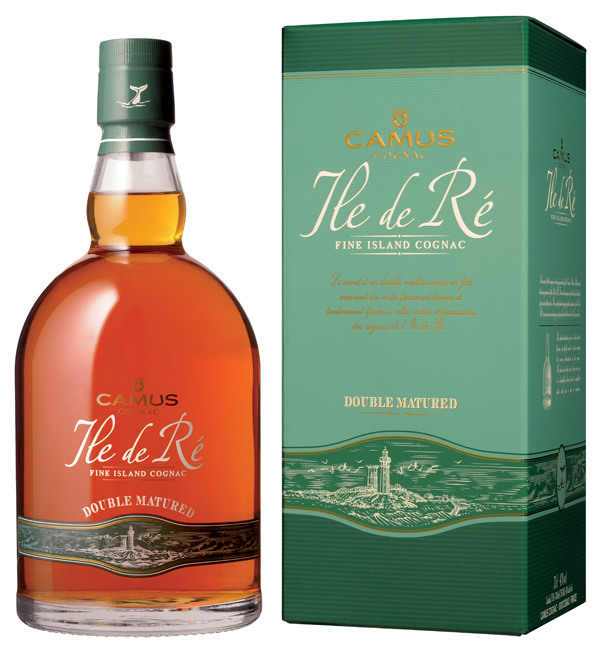 Distilled on the lees to enhance the original flavors of the eaux-de-vie from which it is produced, CAMUS Ile de Ré Double Matured is the result of a unique aging process. It is first matured on Ile de Ré in a damp cellar, after which the eaux-de-vie are transported to Cognac and placed in very old barrels which have been toasted specifically to give the cognac structure and a smoky flavor. The combination of these two aging stages creates a sophisticated, original Cognac.    Ideal straight, over ice, served with fish or spicy dishes.