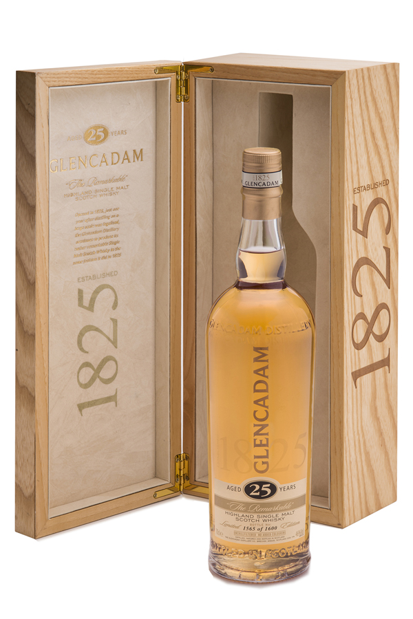 "Multi-award winning Glencadam Highland Single Malt Scotch Whisky Aged 25 Years is a fine example of centuries of craftsmanship and tradition. ""The Remarkable"" malt with a beautifully balanced, pure flavor."