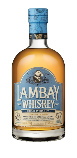 A perfect Irish whiskey for a cocktail, or on its own on the rocks, Lambay Small Batch is a whiskey blend of malted and grain whiskey matured in Bourbon barrels with a pleasant cognac cask finish.  Deliciously smooth, with notes of malt, flora, cracked almonds, pepper and with a cognac cask finish, it has characteristics as unique as the island itself.  Lambay Small Batch Blend is a triple distilled whiskey crafted with Lambay Island Trinity Well water. It features notes of malt, flora, cracked almonds and pepper and has a cognac cask finish.