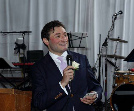Who am I?  I'm a New York based actor, voice over artist, Hebrew teacher and smiley person, but nothing makes me smile quite as big as a wedding does. No joy is quite as genuine as the kind that fills a wedding and I would love to help make that day as joyous (and smiley) as possible. I look forward to collaborating with couples to create a ceremony that is as unique and singular as the love they share. And as a lifelong New Yorker, I can't think of a better city to do it in!