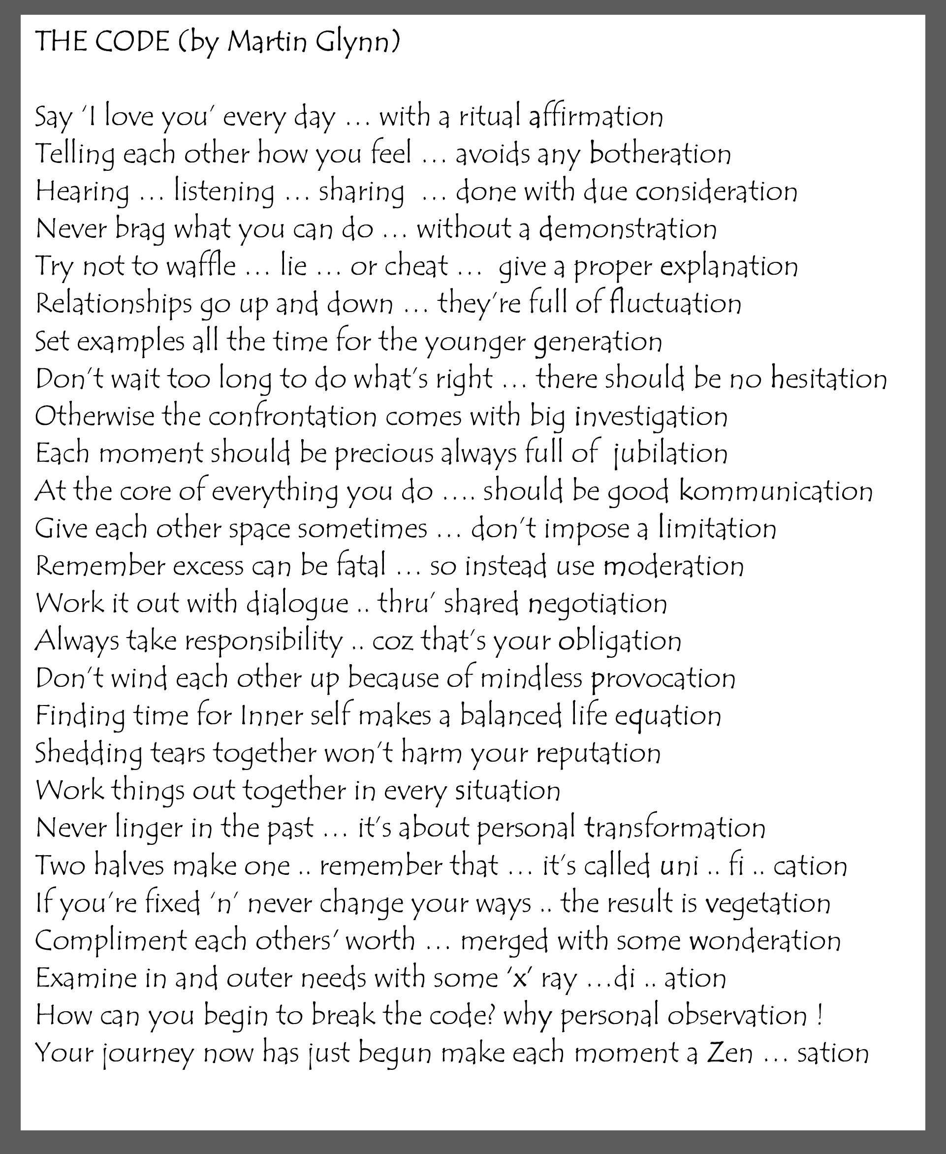 Microsoft Word - THE CODE