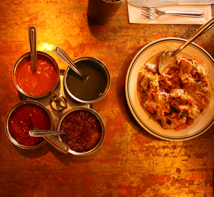 Indian chaat cafe Photo credit: manalahmadkhan (Flickr)