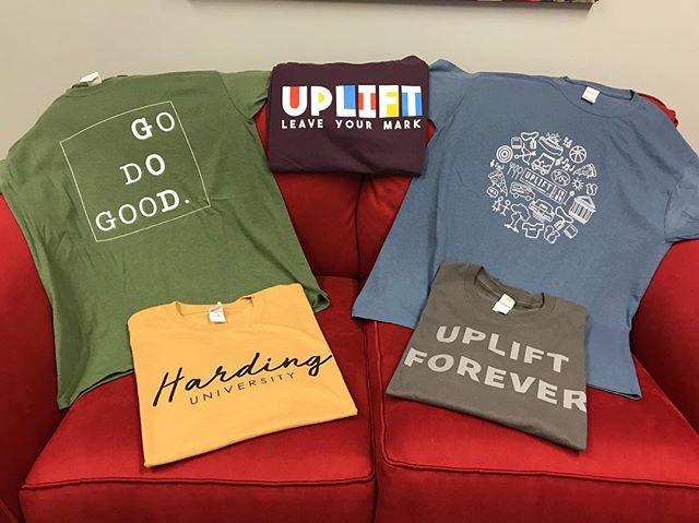Sale time! Shirts are buy one for $10, get one free at Uplift Central! Remaining sweatshirts are $10, too.