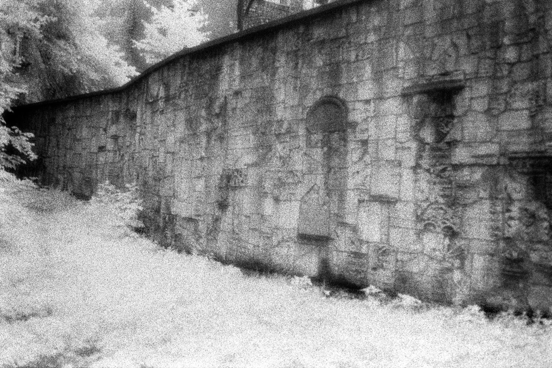 Wall of Broken Gravestones