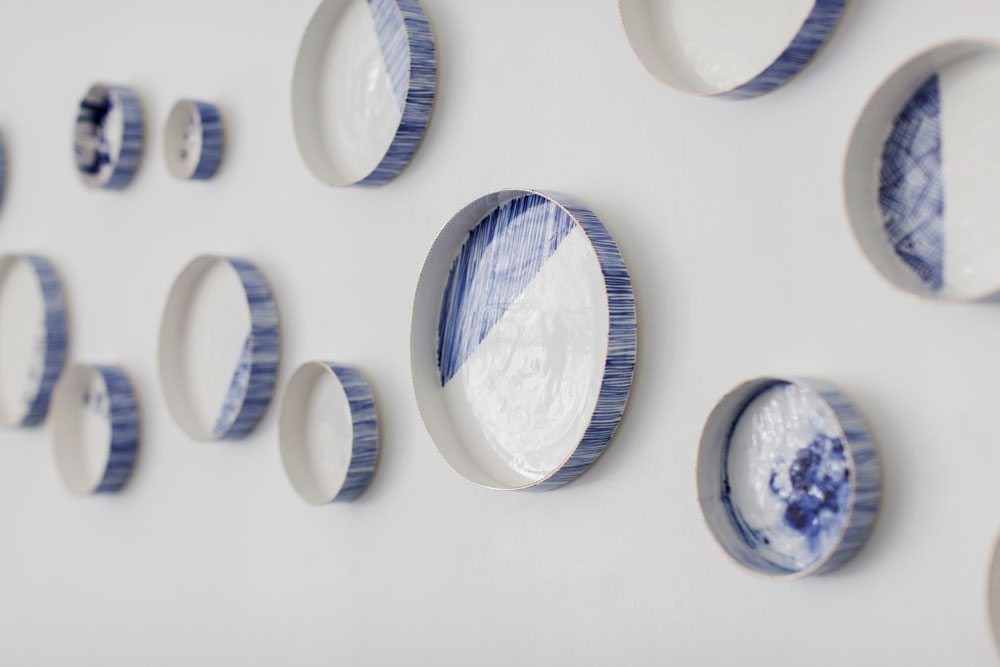 Rebecca Killen Ceramics - Cobalt Wall Dishes