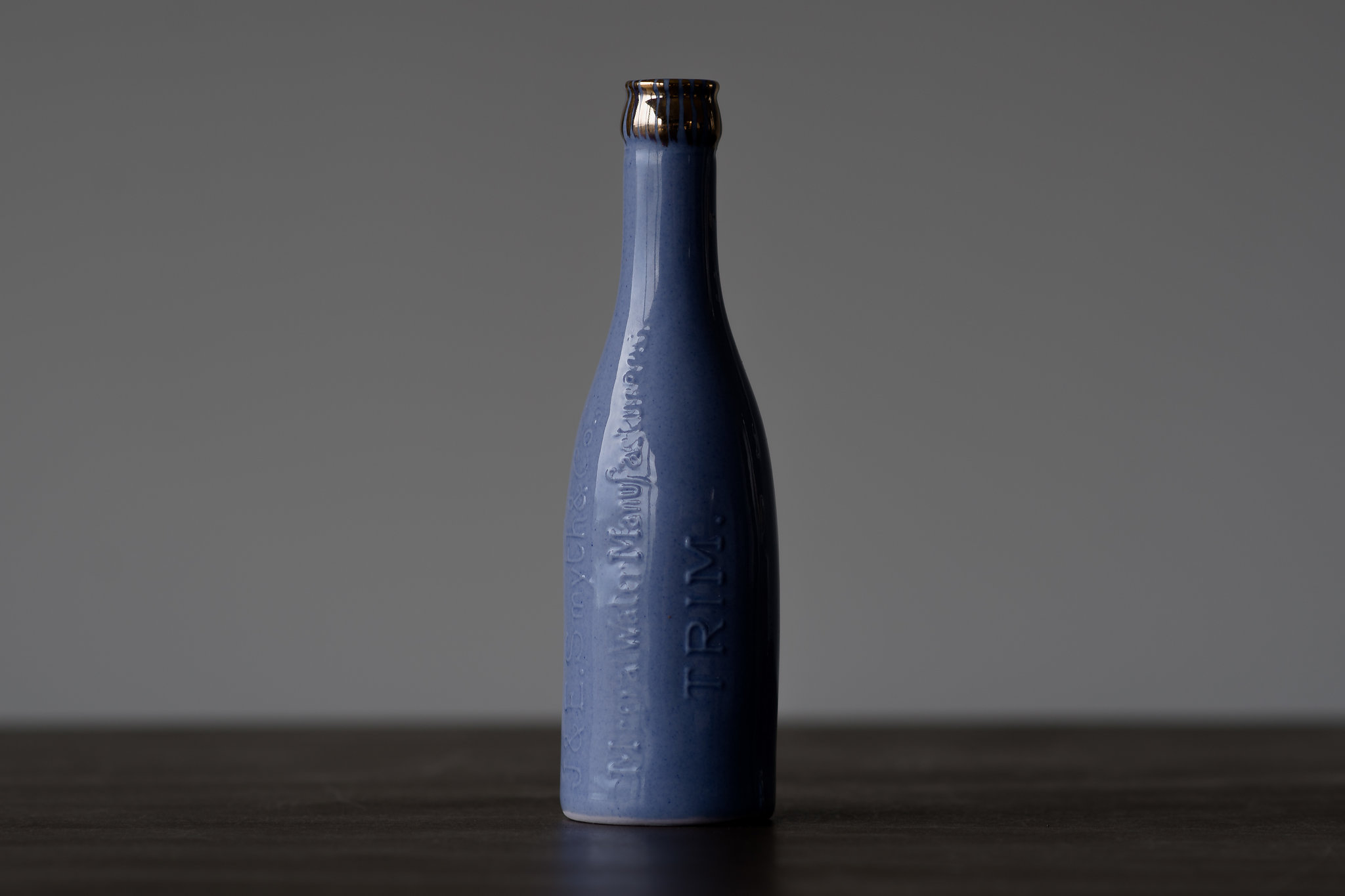 Say hello to another from the mineral water family, this time in our new shade of dusky blue, all the way from Trim, County Meath.