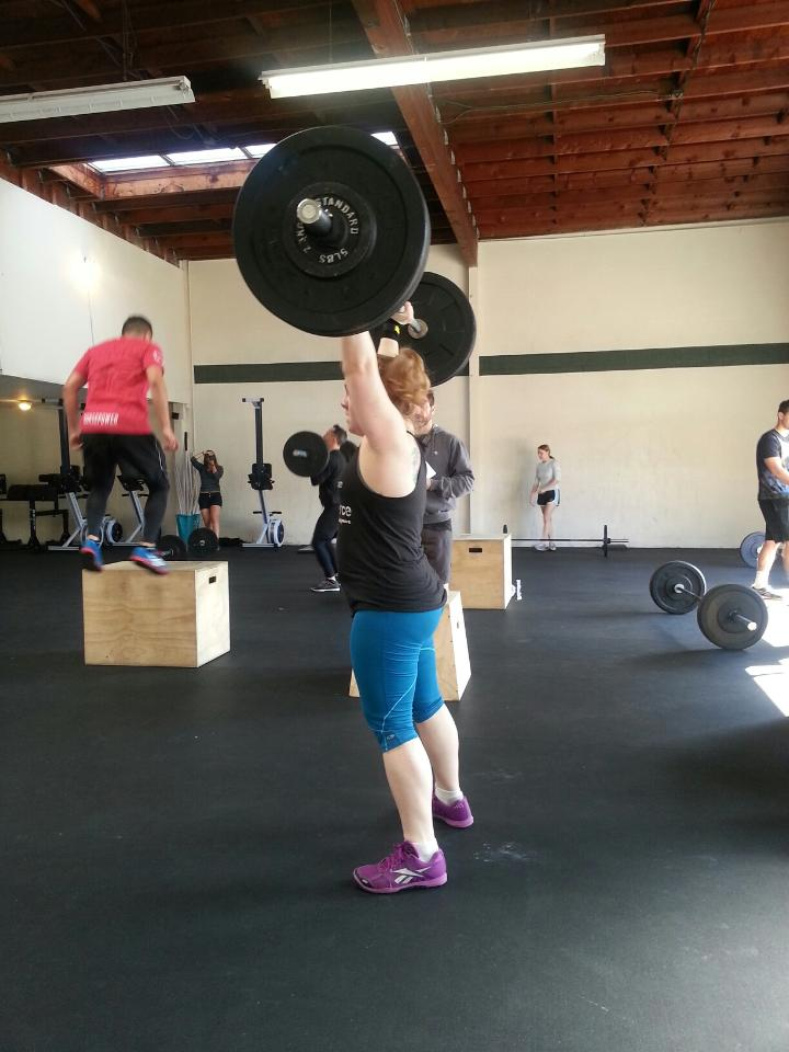 Lifting during the CrossFit Open last year.