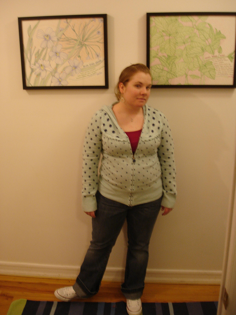 I clearly had not yet learned how to stand up straight or pose for pictures.  Also, this sweater? Not flattering.