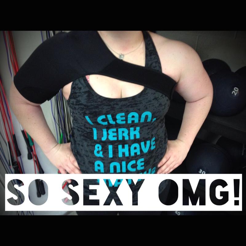 My sexy shoulder brace. - superbalancedlife.com