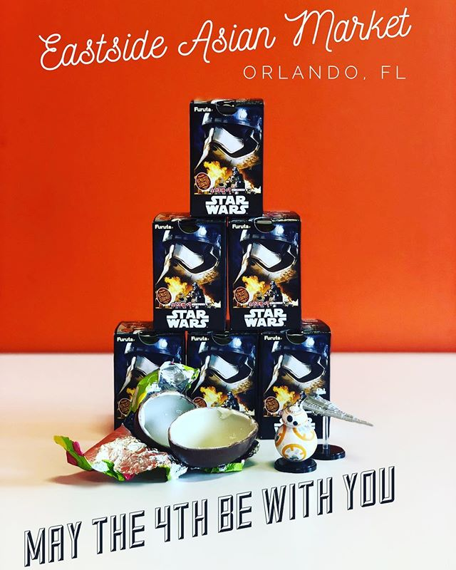 Collect all 14 Starwars Kinder eggs while supplies last!#maythe4thbewithyou #orlandodoesntsuck @eastsideasianmarket