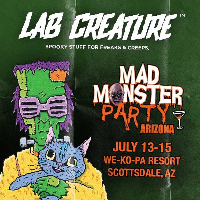 LAB CREATURE is coming to Mad Monster Party Arizona!