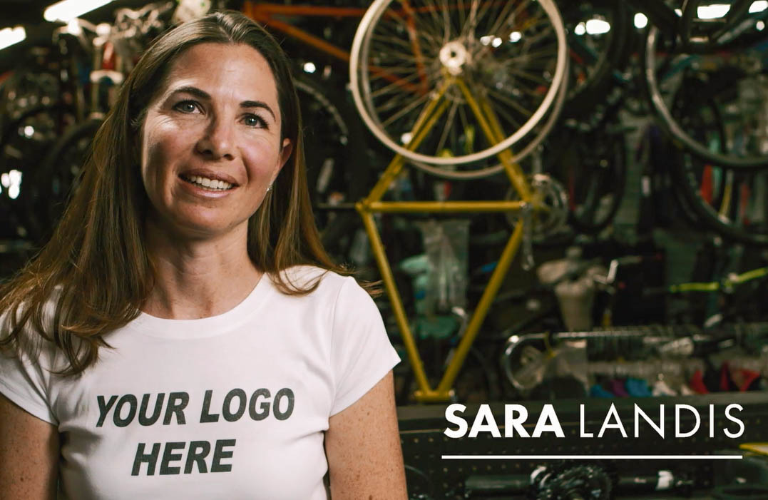 """Sara in their funny """"Your Logo Here"""" Video"""