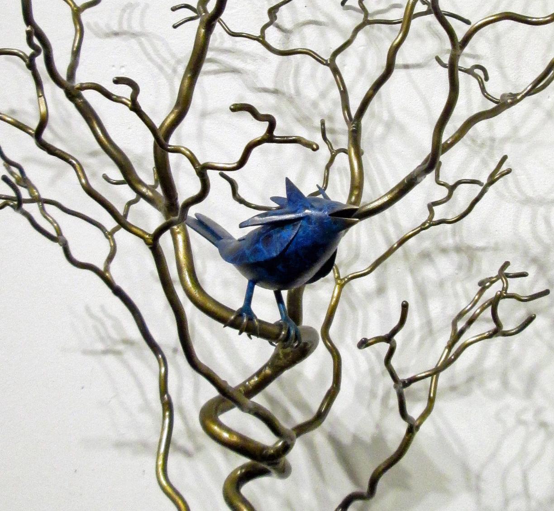"""Organics with 7"""" Blue Bird Close Up"""