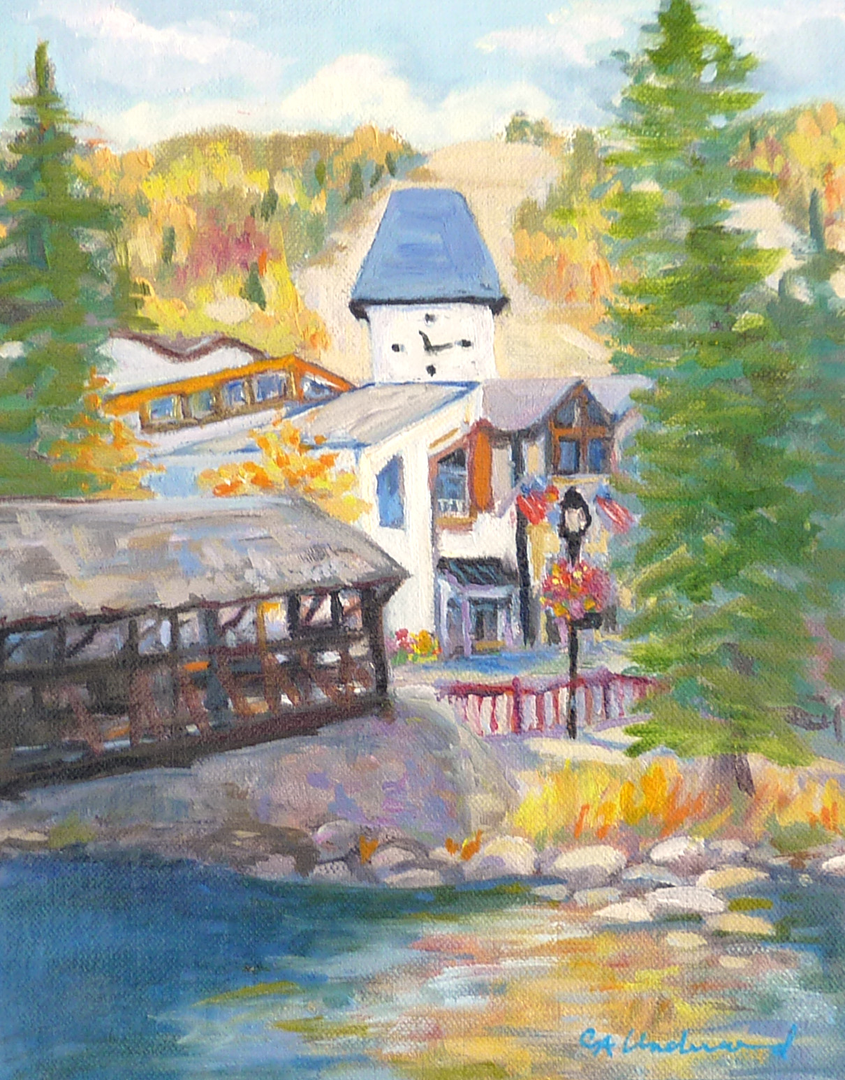 Vail Series IV (Covered Bridge in Fall)