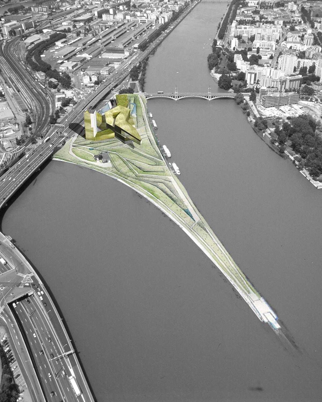 Musée Des Confluences, Lyons, concept drawings, 2001. © Steven Holl. Courtesy Steven Holl Architects