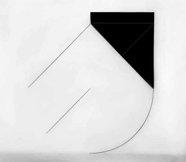 Dorothea Rockburne,  Installation Piece: Arc , 1973, carbon paper and graphite on wall (Dimensions Variable.) © Dorothea Rockburne. Image courtesy the artist / Artists Rights Society (ARS), NY