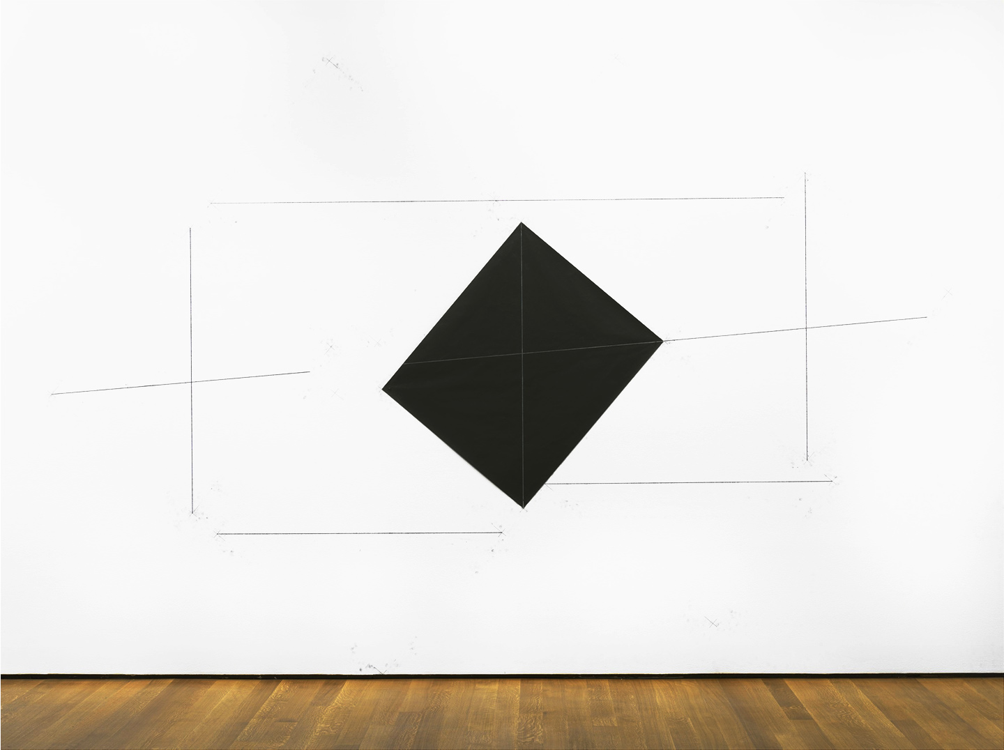 Dorothea Rockburne,  Drawing Which Makes Itself: Nesting , 1972, carbon paper and pencil on wall, 116 x 168 in. © Dorothea Rockburne / Artists Rights Society (ARS), NY. Photograph: The Museum of Modern Art. Fair Use Disclaimer
