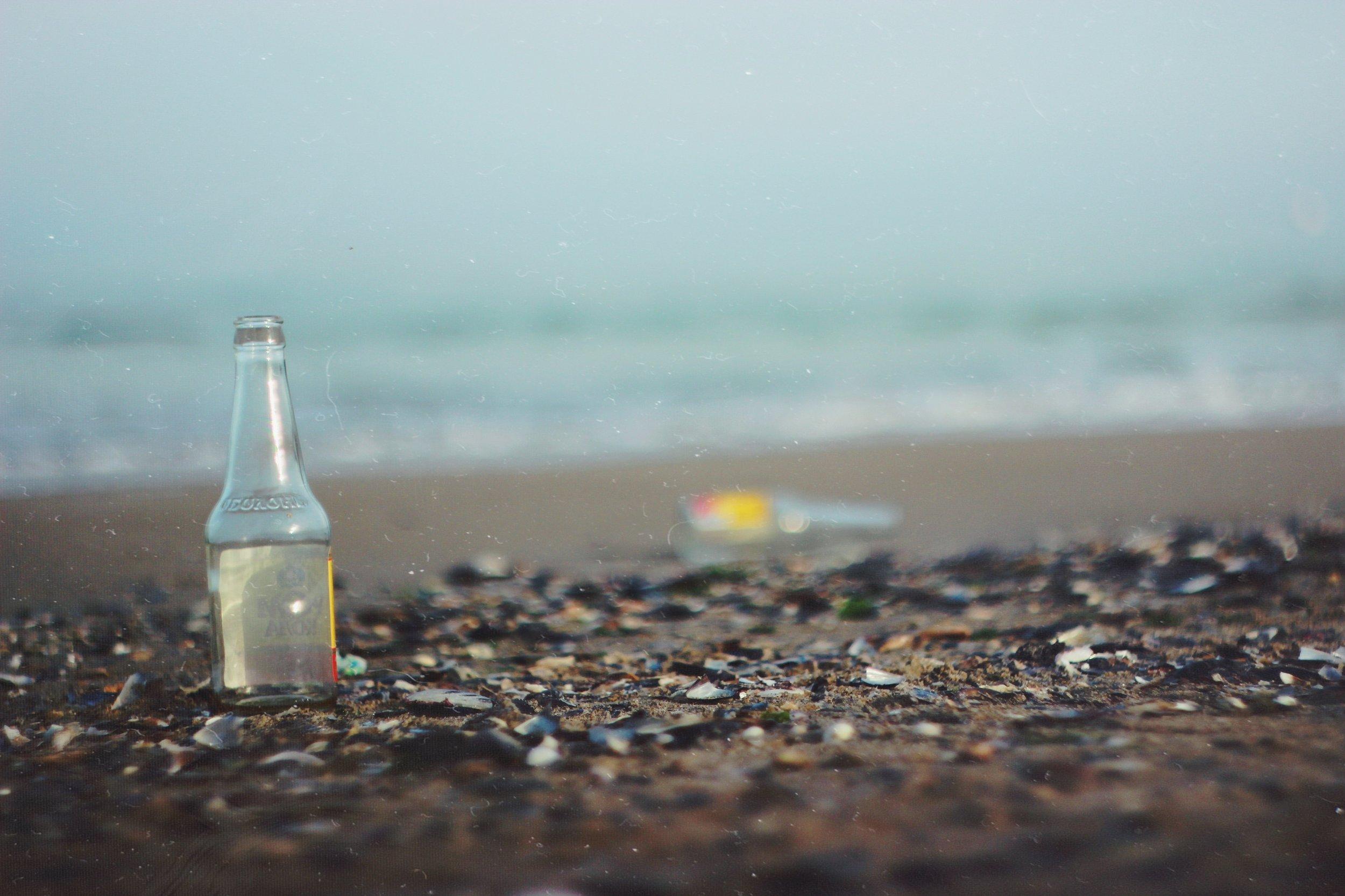 beach litter clean up