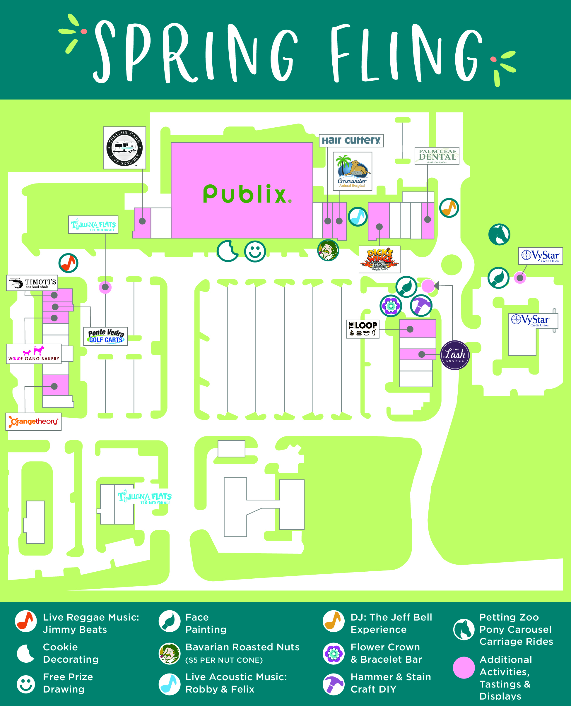 Directory Map of Spring Fling Activities