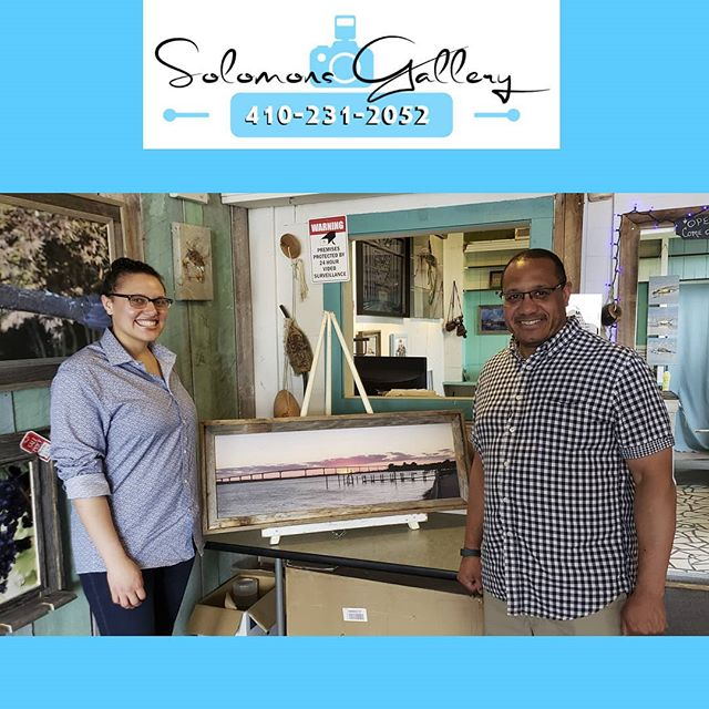 "Solomons Gallery ""Print Of The Day"" was taken with an iPhone 6 Plus. Alana Adams and her father stopped by the gallery on their ""Daddy Daughter Day"" and had this picture printed as an 36""x 12"" Canvas (GiClee) in a Barn Wood frame. We love printing moments that are special to people. Please keep Solomons Gallery in mind for all of your canvas and metal printing needs. Thanks for supporting a Veteran Owned Small Business!  #VeteranOwnedSmallBusiness #SolomonsGallery #SolomonsIsland #Artwork #ModernArtwork #MarylandPhotography #MetalPrinting #Photographer #TerryQuinn #CalvertCounty #StMarysCounty #BarnWoodFraming #CanvasPinting #SoMd #SoMdArtwork #CellPhonePics #iphone6plus #AlanaAdams #Dad #GoodTimes #Love"