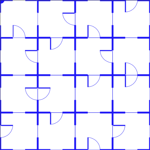 First Problem :   the change of the pattern from door positions is a little too subtle than I thought