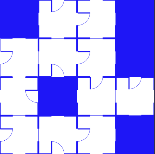new pattern with negative space