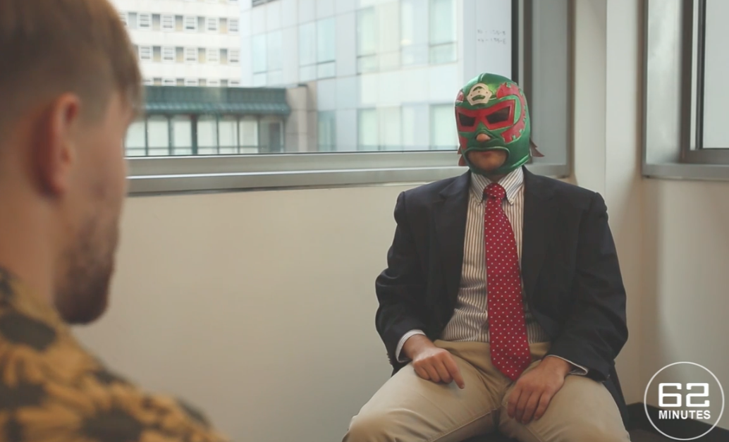 We try to mock the 60 minute interview shoot for Earthman