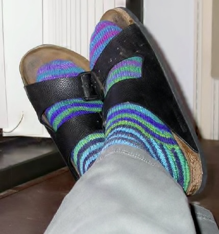 Stripey Noro Socks (free)