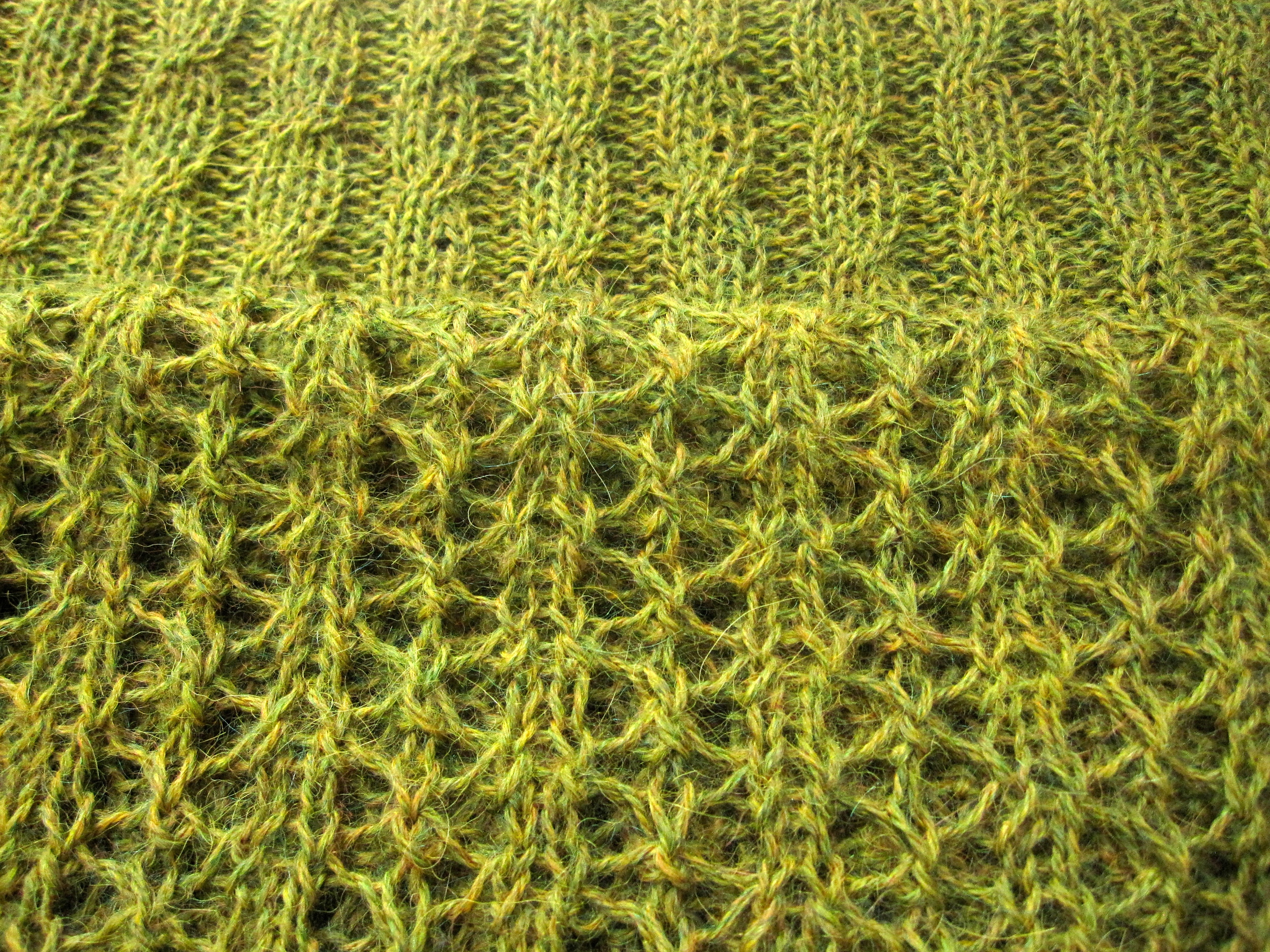 Lace to cabled ribbing...