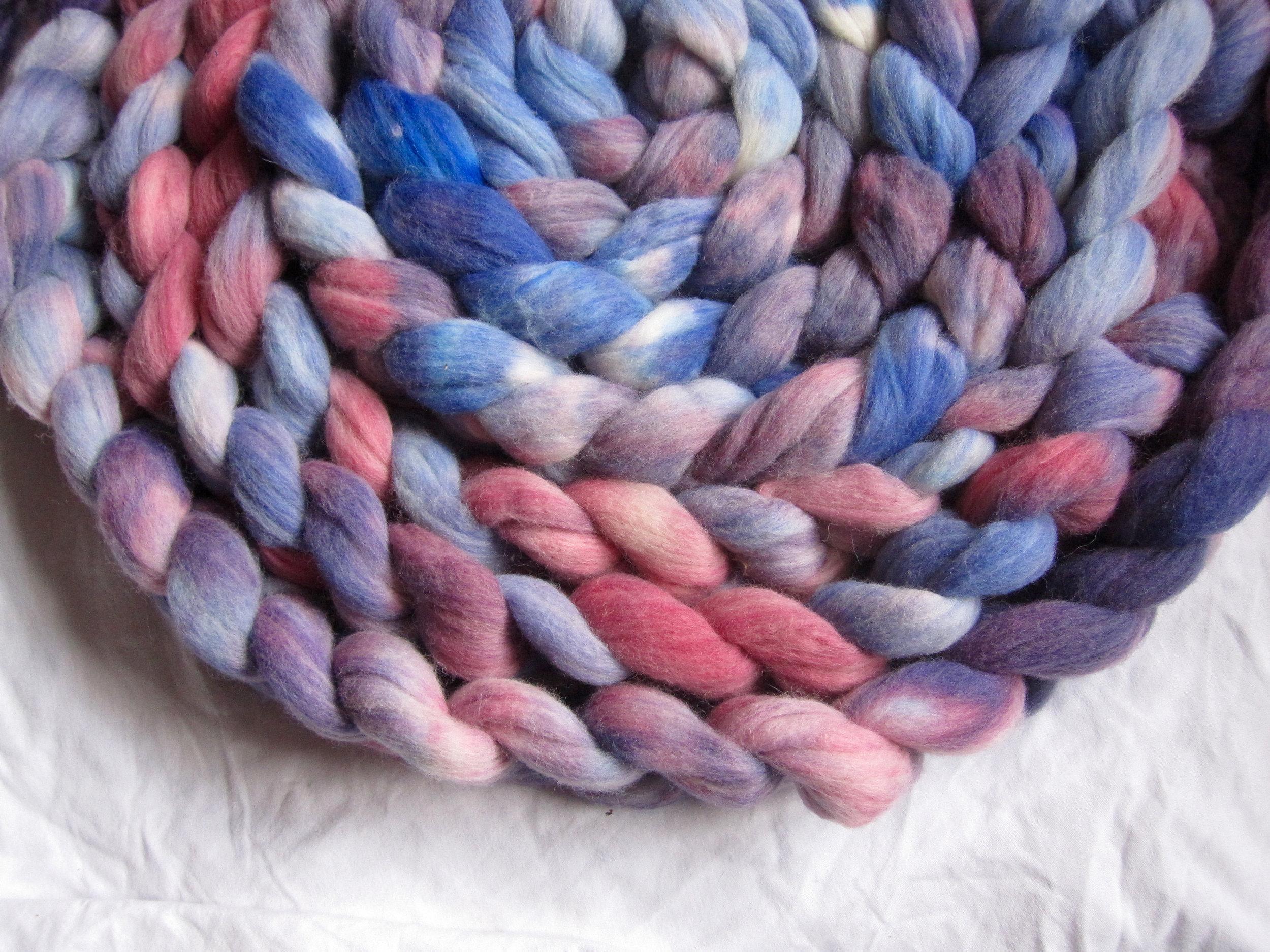 Network on my new Sock Blend (50% Corriedale/25% Southdown/25% nylon)
