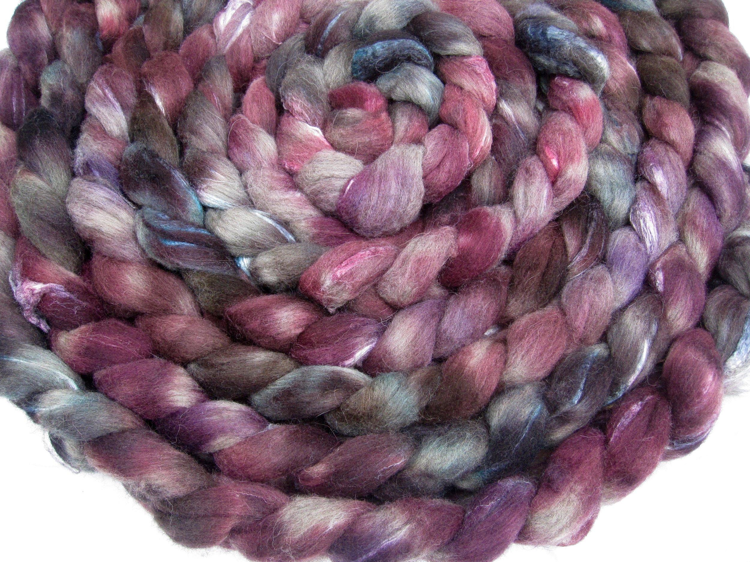 Pluripotent on 70% grey Shetland/30% Tussah silk