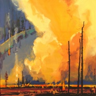 River Valley Papoose Fire by Stephen Quiller from his Beauty and the Burn collection