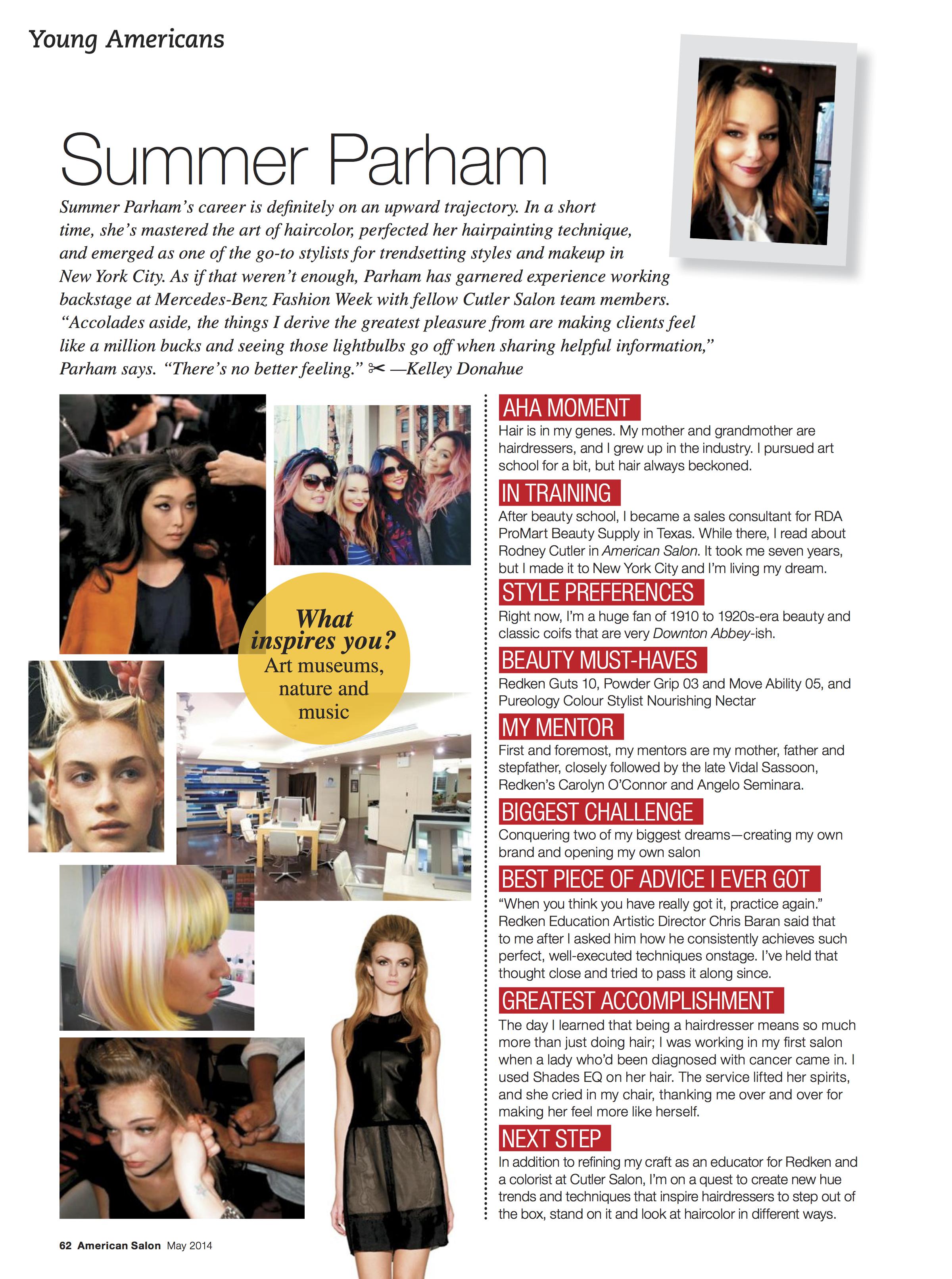American Salon Magazine Editorial