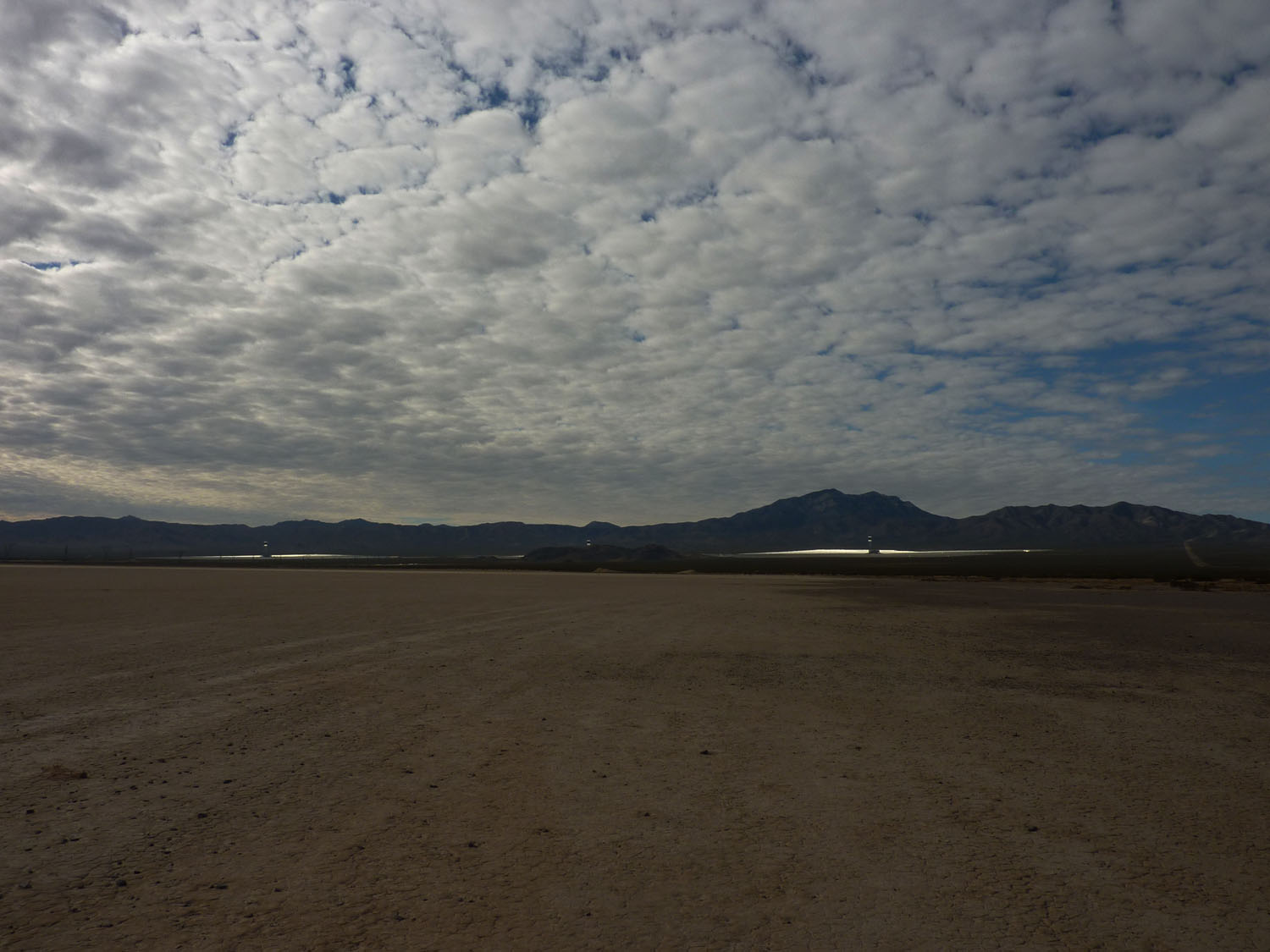 Ivanpah solar electric generating system from afar.