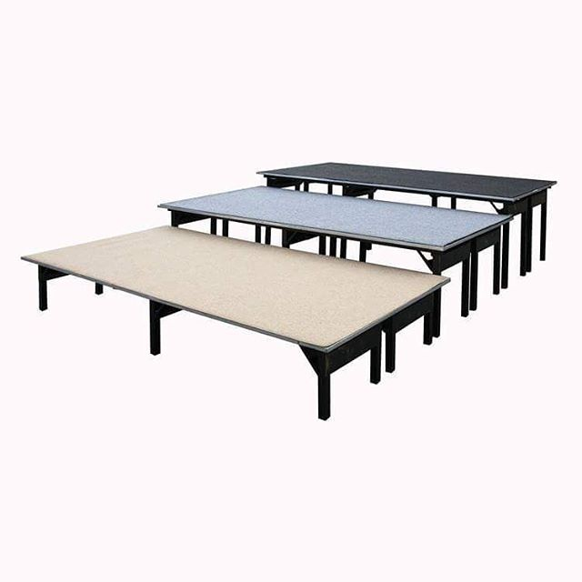 "Platforms: 4x8 - Assorted Carpets - PL416 Model Number - Measurements: - PL416 - 4x8x16""h - PL424 - 4x8x24""h - PL430 - 4x8x30""h  #MetroOfficeFurnitureRental #platform #platforms #railing #levels #assorted #carpet #choral #risers  #choralrisers #step #unit #measurements #furniture #rental #nyc #event #graduation #bunting #office #style #classic # #quality #specialevents #events #available"