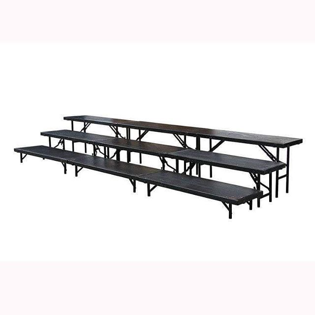 "Straight Choral Risers Measurements: Available: (With/Without Railing) 3 Levels High: 48""W 18""D or 96""W 18""D  #MetroOfficeFurnitureRental #platform #platforms #railing #levels #choral #risers  #choralrisers #step #unit #measurements #furniture #rental #nyc #event #graduation #office #style #classic # #quality #specialevents #events #available"