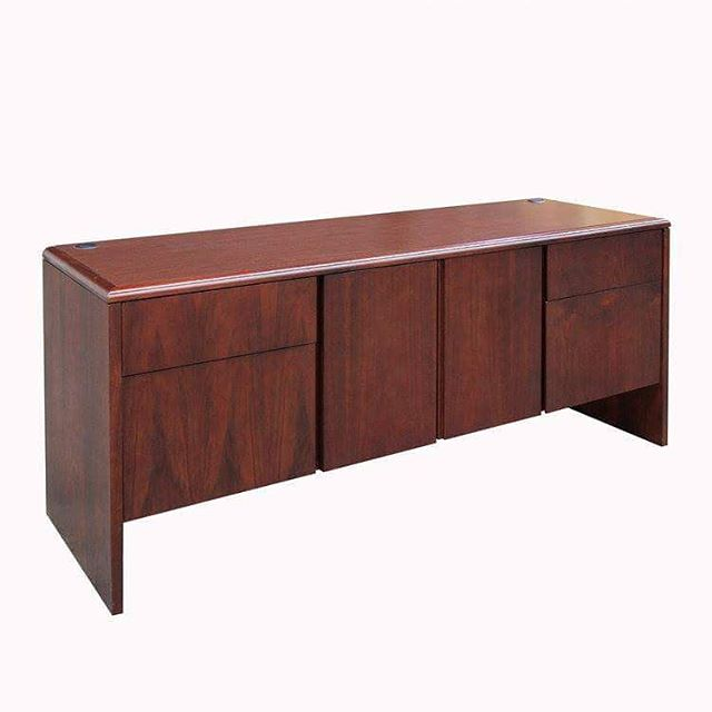 National: Storage Credenza - CR702 Model Number - Color - Size: - CR702 - Mahogany - 21x66  #MetroOfficeFurnitureRental #desk #furniture #rental #credenza #national #mahogany #four #draw #product #nyc #laminate #event #office #available #classic #fashion #wood #woodworking #events #quality #specialevents