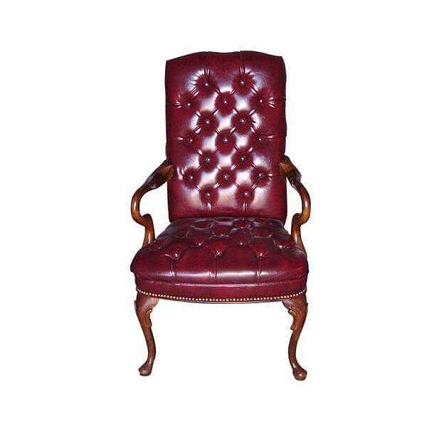 Guest: Traditional - CH916 Model Number - Color: - CH916 - Ox Blood Seat and Back/ Mahogany Frame  #MetroOfficeFurnitureRental #guest #mahogany #executive #chair #leather #cushion #furniture #traditional #rental #nyc #oxblood #event #office #party #style #classic #chique #quality #specialevents
