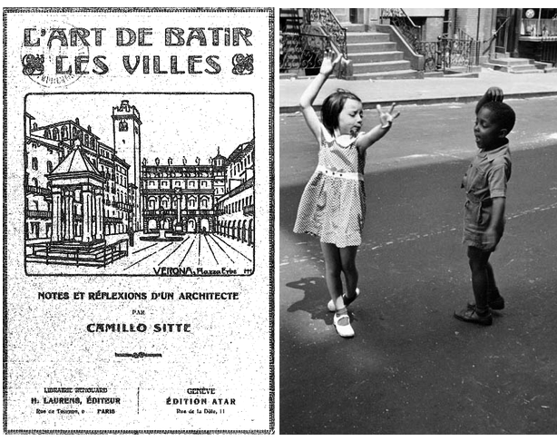 Left: Cover page of 1918 edition, and Right: Two Kids Dancing by Helen Levitt