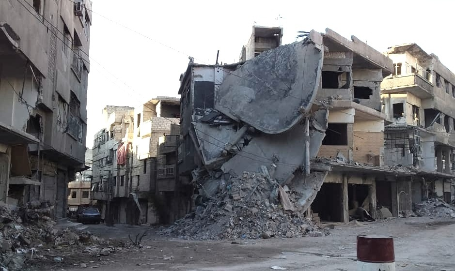 One of the many scenes of destruction in East Ghouta in November 2018 after the siege was broken.