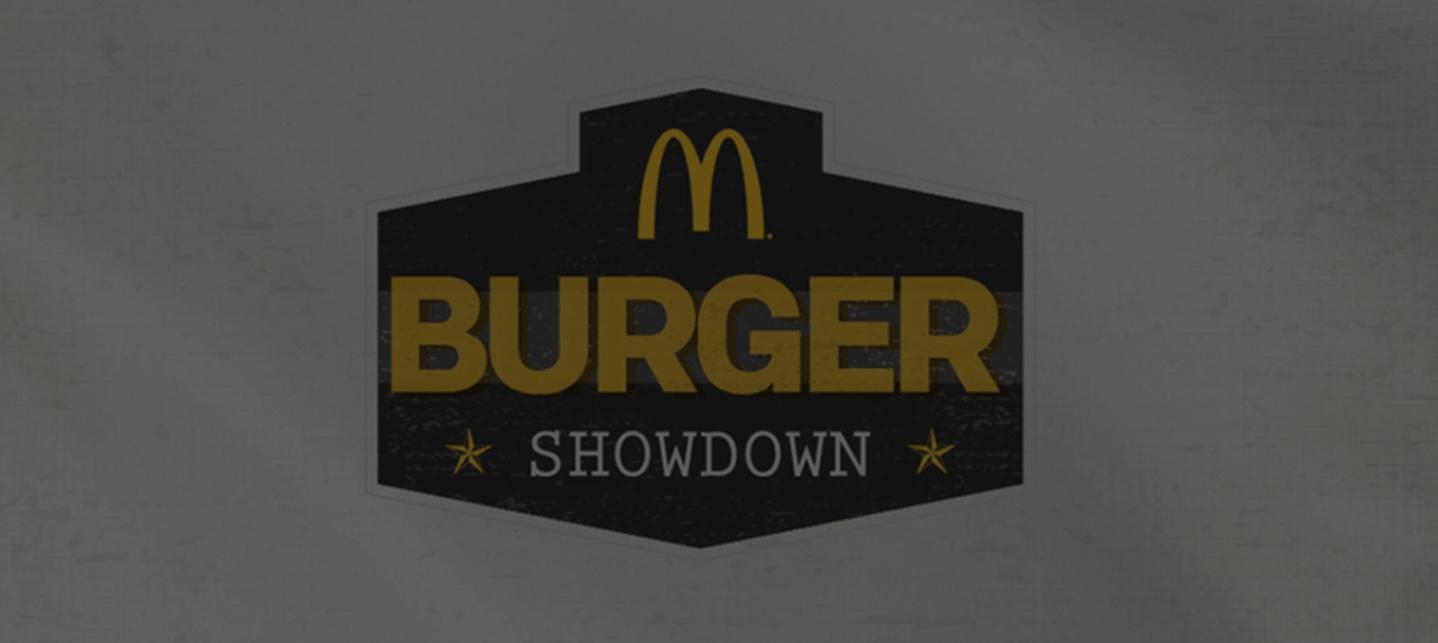 McDonald's Burger Showdown Microsite -