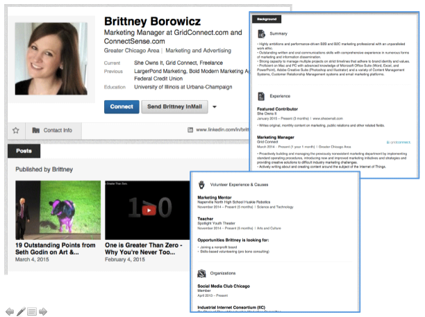 LinkedIn Profile - Brittney Borowicz