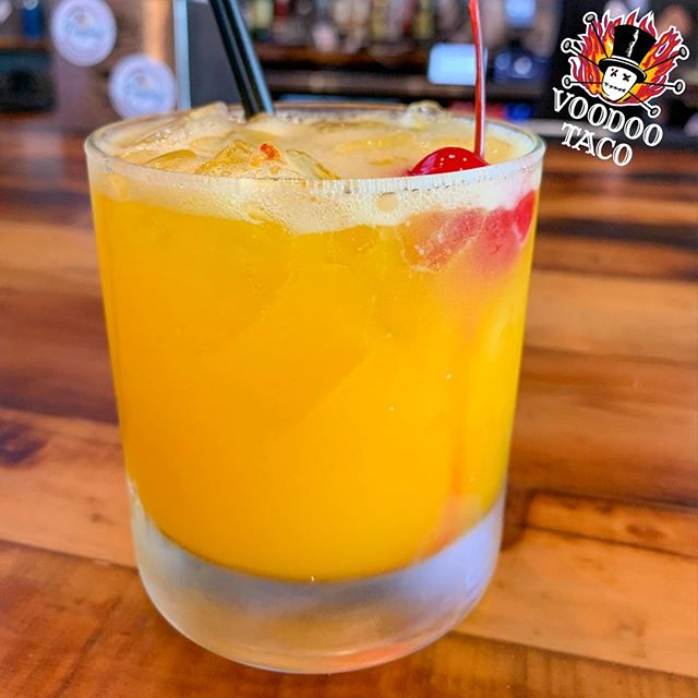 Could this be the most beautiful drink in the world? This is the new Gold Experience! This Thirsty Thursday, go on a magical ride with The Restaurant Formerly Known as Voodoo. Pineapple vodka is mixed with triple sec, delicious mango puree, and a generous dash of sexiness. Ask for it at our Aksarben Village location! 🎸