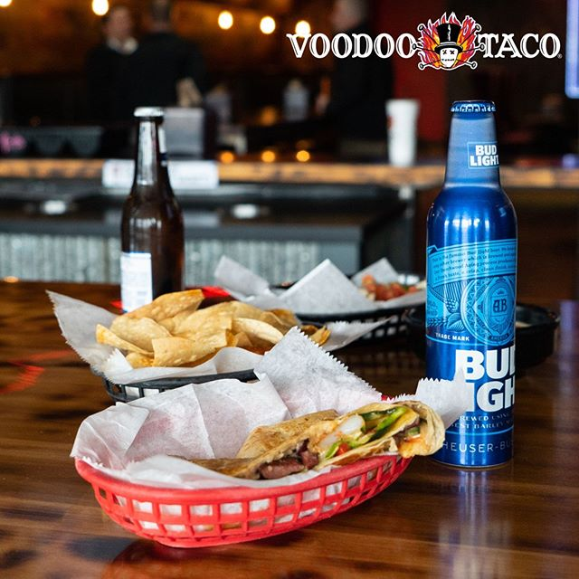 FRIYAY! You need a taco in one hand and an adult beverage in the other. We can help. Come visit your favorite Voodoo Taco location today and celebrate the weekend the right way! 🍻