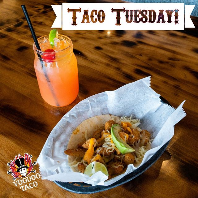 If Tuesday isn't your favorite day of the week, then we need to have a serious conversation. Get $1 off your taco today for Taco Tuesday and grab a delicious margarita to wash it down! Then we'll see how you feel about Tuesday. 💪